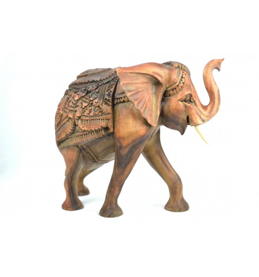 grande statue l phant en bois sculpture rare artisanat de bali. Black Bedroom Furniture Sets. Home Design Ideas