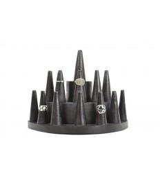 Door-rings / Display stand for rings (13 cones) wooden black