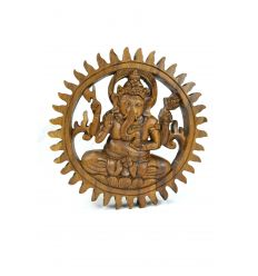 Decor wall Ganesh exotic wood diam. 20cm