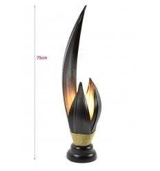 Grande lampe de salon en feuille de cocotier h75cm - fabrication artisanale