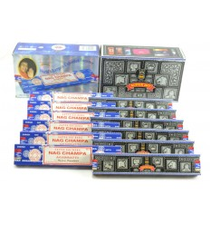 Incenso Satya a buon mercato. Pack economica 12x15gr Nag Champa & Super Hit (circa 140 stick).