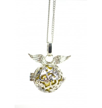 "Collar fantasy with Bola pregnancy ""Angel Wings"" metallic silver"