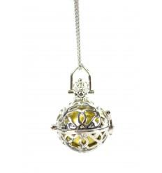 Collare fantasia con Bola gravidanza in metallo argento
