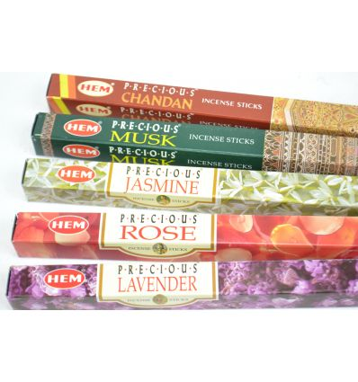 Assortment of incense Precious 5 perfumes / 40 sticks, Hem Precious.