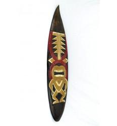 Decorazione della parete di legno maschera Tiki H100cm stile tavola da surf