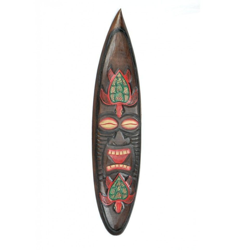 Grande maschera tiki modello tartaruga modulo di for Arredamento tiki