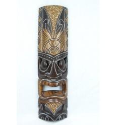 Masque Tiki h50cm en bois. Déco maori, artisanat du monde.