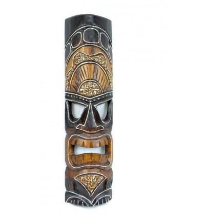Maschera Tiki Polinesiana h50cm legno. Decorazione esotica.