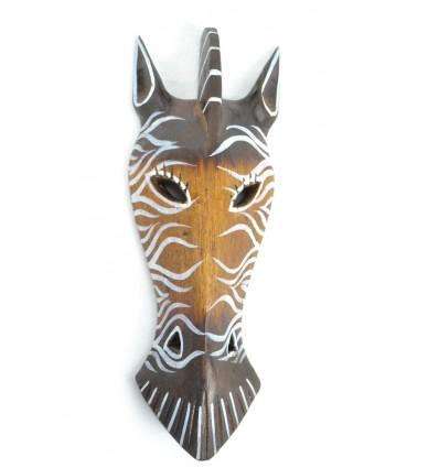 Mask Zebra wooden 30cm decoration Safari.