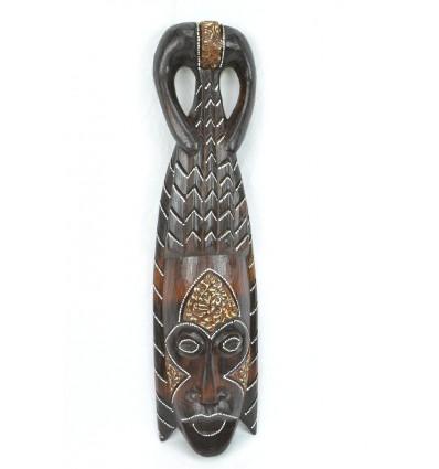 Masque Africain en bois 50cm style tribal. Fabrication artisanale.