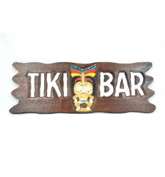 "Large plaque / sign wooden ""Tiki Bar"" homemade."