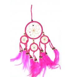 Dreamcatcher / collettore sogno indian rosa 35 x 15 cm fatto a mano
