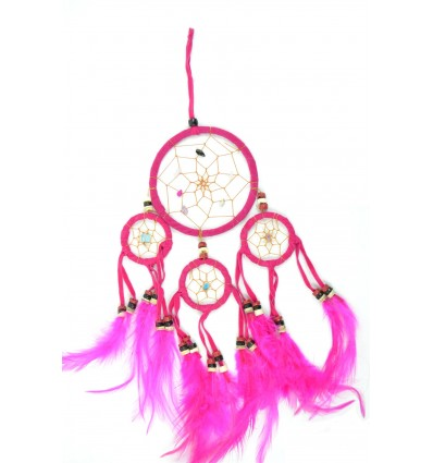 Dreamcatcher / catcher dream indian pink 35 x 15cm handmade