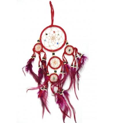 Dreamcatcher / catch sogni rosso indiano 35 x 15 cm fatto a mano
