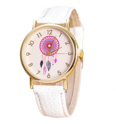 "Watch fantasy wife ""Dreamcatcher"" motif Catches Dreams - white strap"