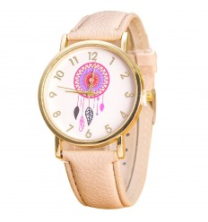 "Watch fantasy wife ""Dreamcatcher"" pattern Catcher Dream - bracelet beige"