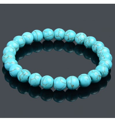 Bracelet Lithotherapie Turquoise natural Protection and purification.