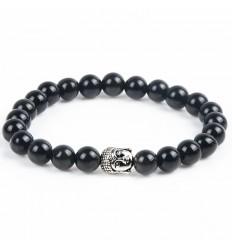 Bracciale in Onice naturale + perla di Buddha. Spedizione gratuita.