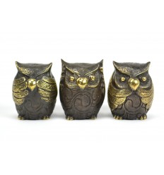 "The 3 owls ""Secret of Happiness"". Statuettes of solid bronze."