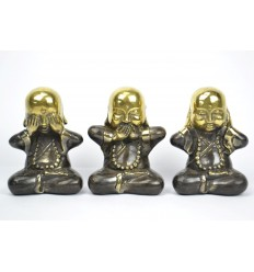 "The 3 monks ""secret of happiness"". Statuettes of solid bronze."