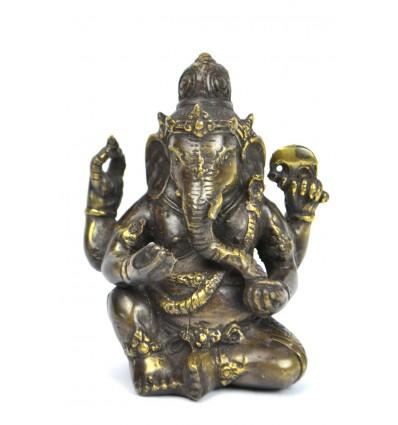 Statuetta di Ganesh en bronzo H12cm. Artigianato asiatico.