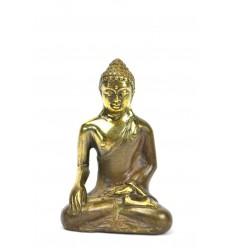 Statuetta di Buddha Bhumisparsa Mûdra bronzo h7cm.