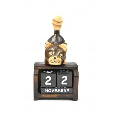 Piccolo calendario perpetuo, decorazione in legno cat. Regalo bambino.