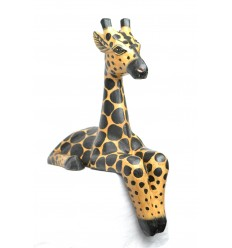 "Statue ""Giraffe seat"" ledge shelf H30cm. Deco african Safari Savanna."
