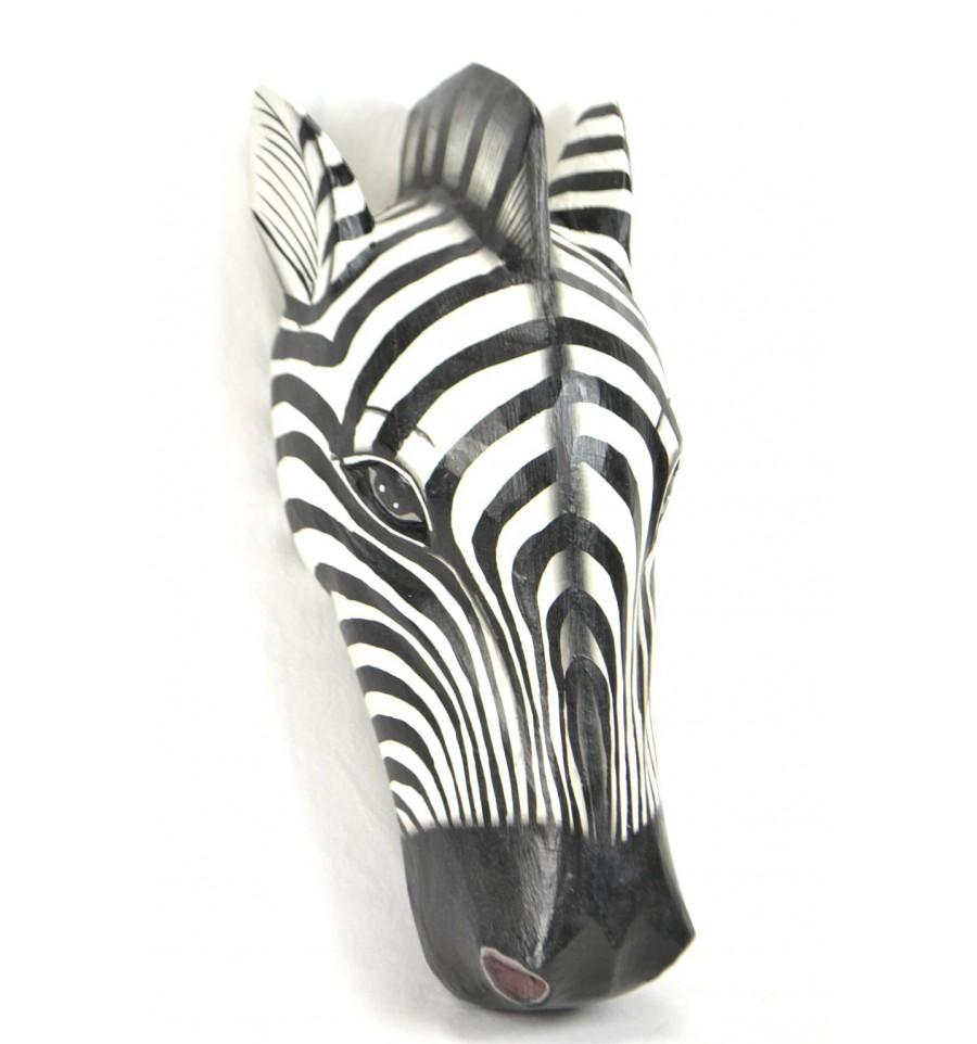 masque africain zebre