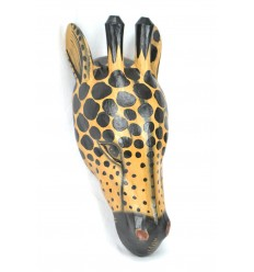 Mask / Trophy Head of a Giraffe 50cm wood. Creation craft.