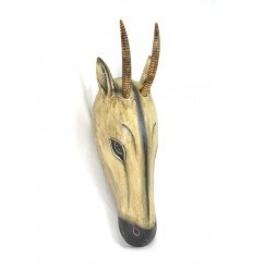 Maschera / Trofeo di caccia, Capo di una Gazzella 60cm legno. Creazione di artigianato.
