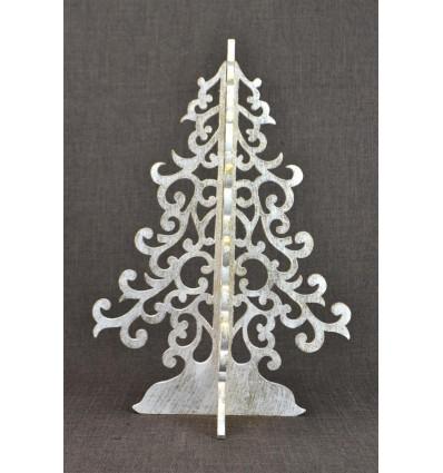 Christmas tree golden 40cm wood. Christmas decoration original.