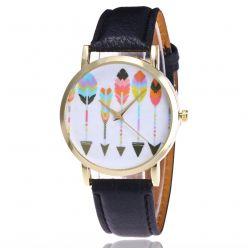 Montre fantaisie femme motif Flèches - bracelet similicuir. Livraison gratuite !