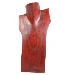 Busto visualizzare le collane in legno massello rosso H30cm