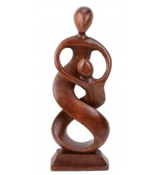 Statue abstract couple a parent-child gift idea a single-parent family.