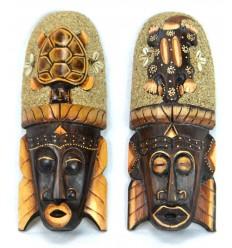 L'acquisto di maschera africana in legno parete in basso.