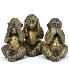 """Statuette di """"Le 3 scimmie sagge"""" l'acquisto non è costoso"""