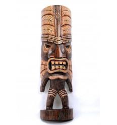 Tiki testa h40cm legno massello intagliato e dipinto a mano