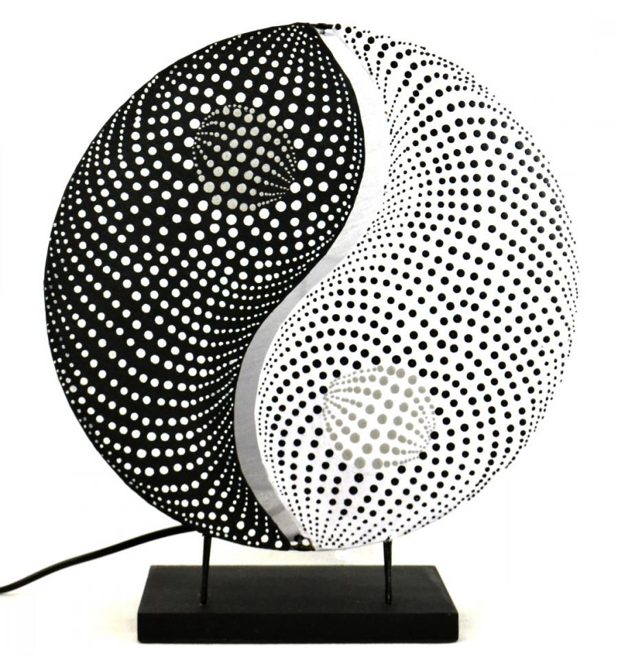 achat lampe de chevet yin yang d coration asiatique zen pas cher. Black Bedroom Furniture Sets. Home Design Ideas