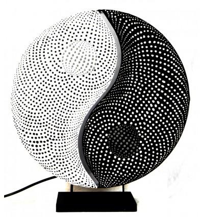 """Lampe de salon """"Yin Yang"""". Décoration Zen asiatique."""