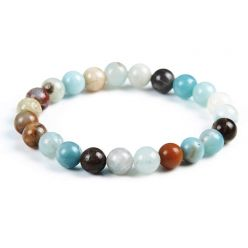 Bracelet Lithotherapie in Amazonite natural - Soothing, spontaneity, anti-stress