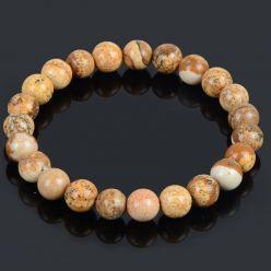 Bracelet Lithothérapie en Jaspe naturel - Sérénité, tranquillité et confiance