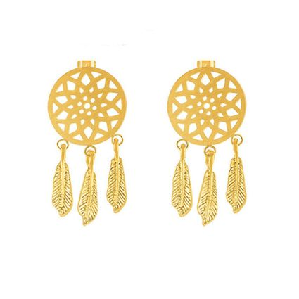 Earrings catch-dreams of steel golden