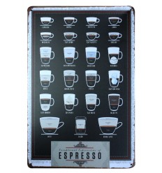 Decorative plate wall retro vintage coffee espresso. Purchase cheap.
