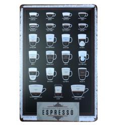 Piatto decorativo da parete retrò vintage caffè espresso. Acquistare a buon mercato.