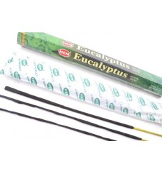 Incense fragrance Eucalyptus. Lot of 100 sticks brand HEM
