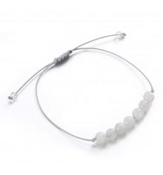 Bijou bracelet porte-bonheur fertilité bébé, pierre de lune naturelle.