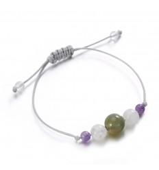 Gioielli braccialetto di fascino per il successo, buona fortuna in pietre semi-preziose.