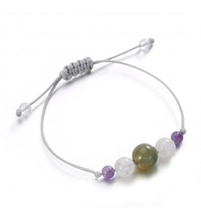 Bijou bracelet porte-bonheur succès chance en pierres semi-précieuses.