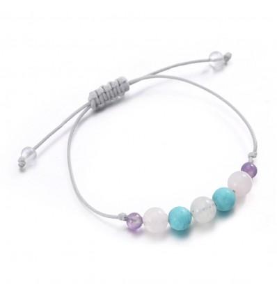 Gioiello bracciale portafortuna fascino amuleto di protezione-donna, pietre preziose.